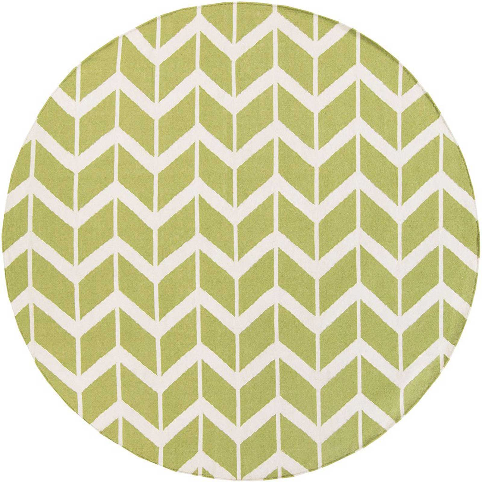 Fallon Lime/Beige Round Rug
