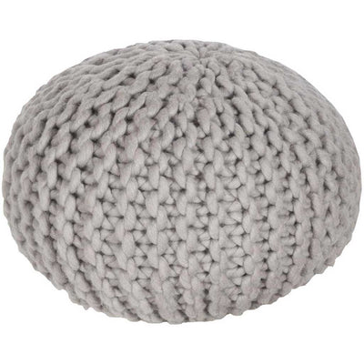 Fargo Solid Neutral Sphere Pouf
