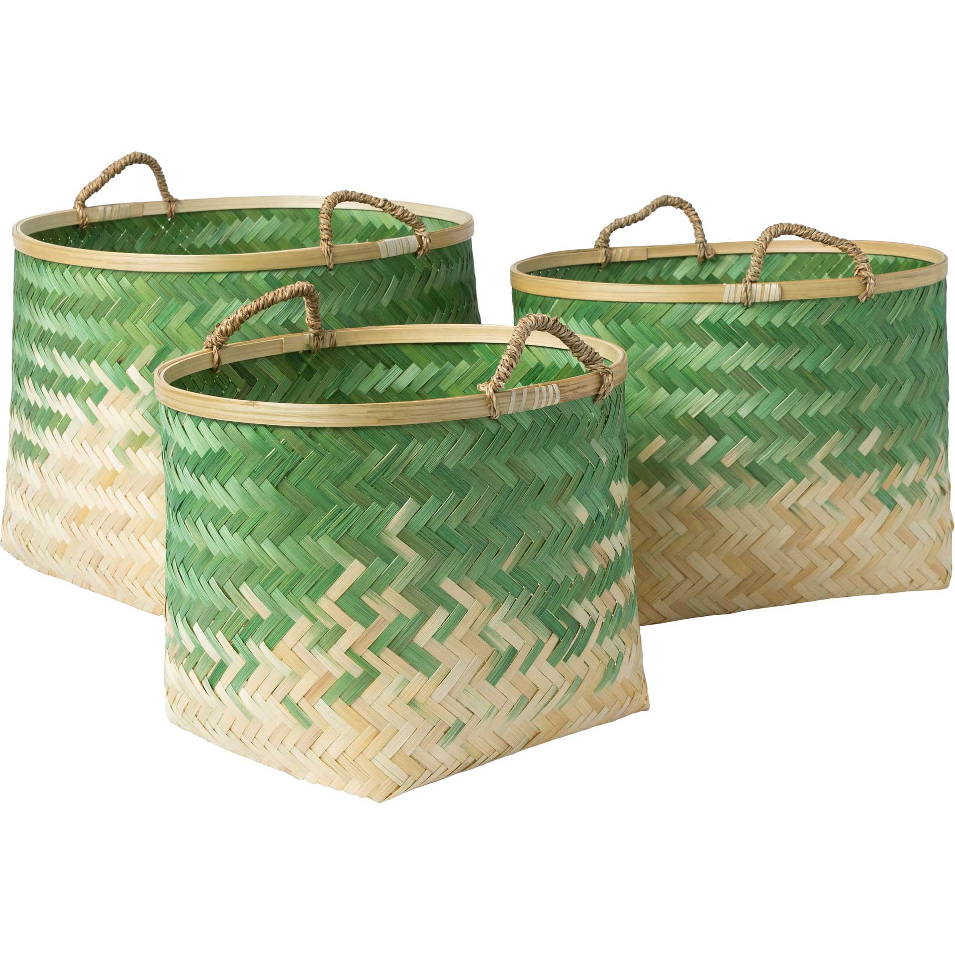 Frank Basket Grass Green/Cream