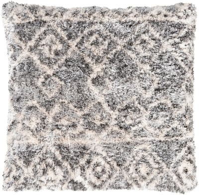 Flora Pillow Beige/Light Gray/Black