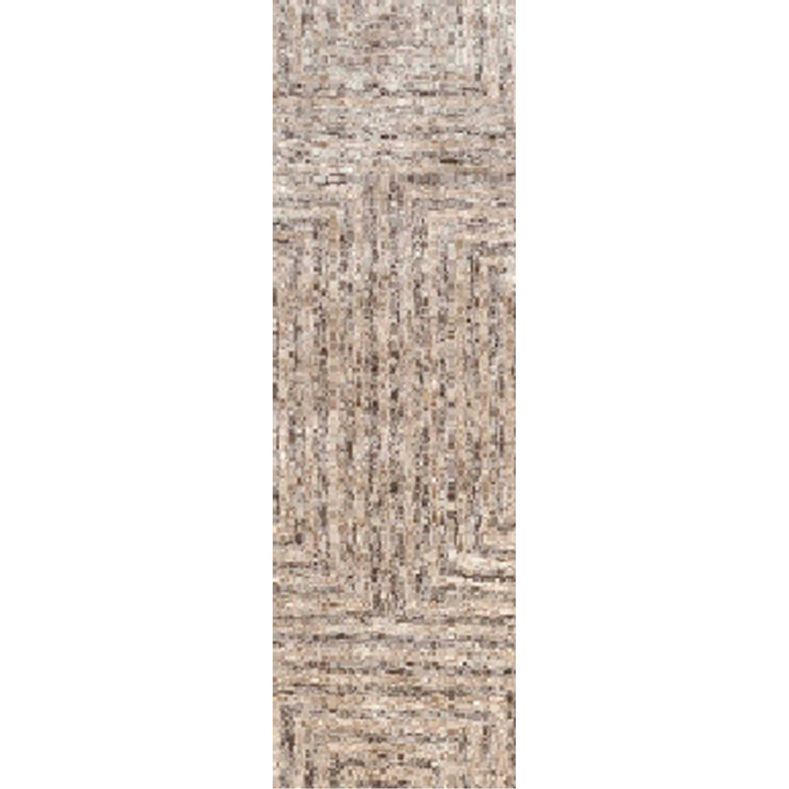 Falcon Light Gray/Taupe/Charcoal Runner Rug