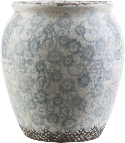 Flora Ceramic Table Vase Slate