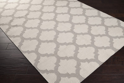 Frontier Lattice Ivory/Light Gray Area Rug