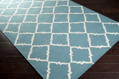 Frontier Diamond Teal/Ivory Area Rug