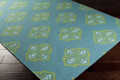 Frontier Ancient Teal/Lime Area Rug