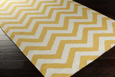 Frontier Chevron Gold/Ivory Area Rug