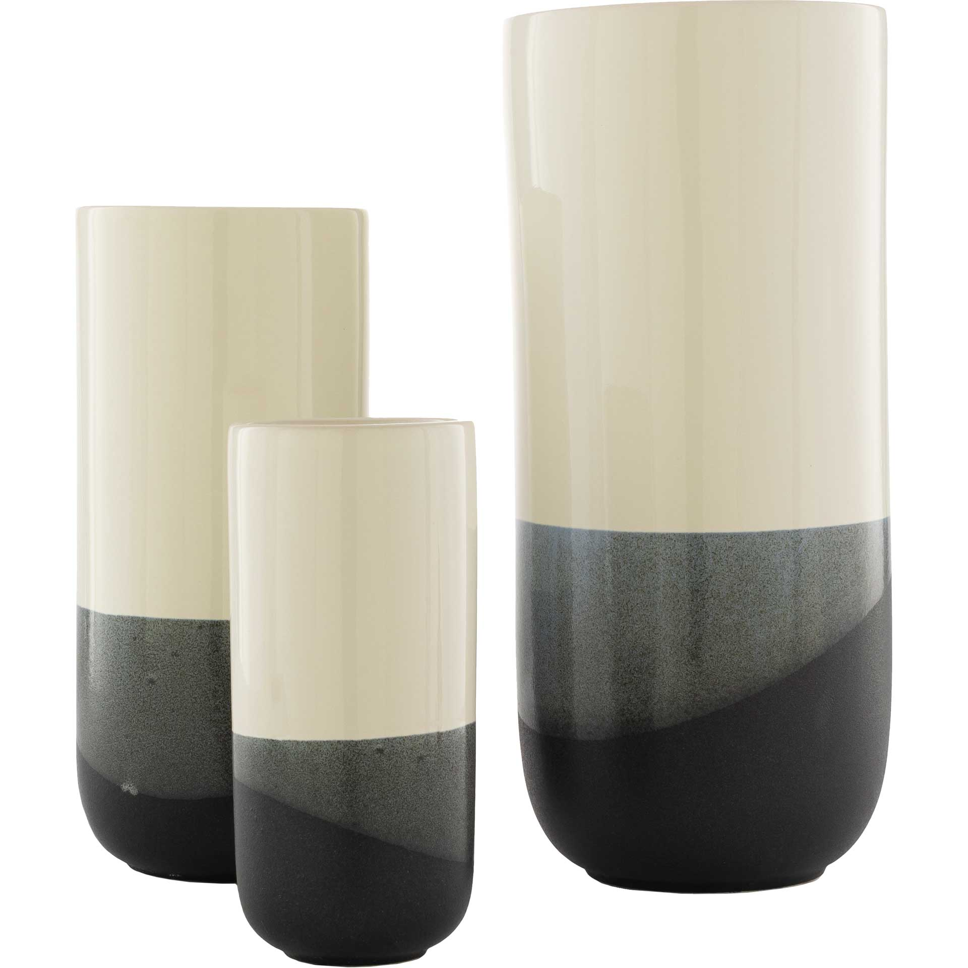 Genevieve Vase Cream/Black