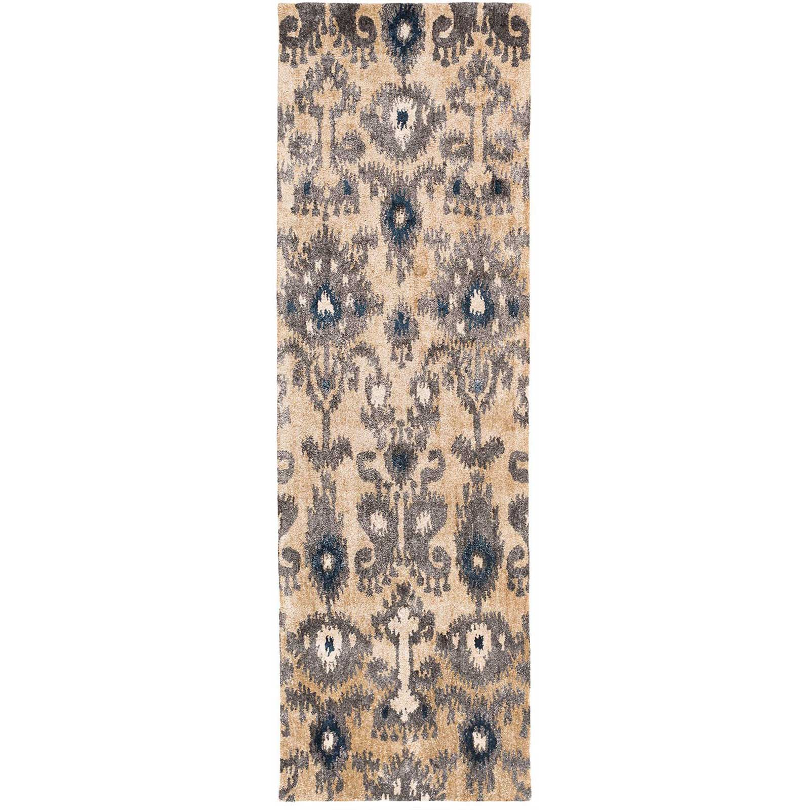 Gemini Black/Gray Runner Rug