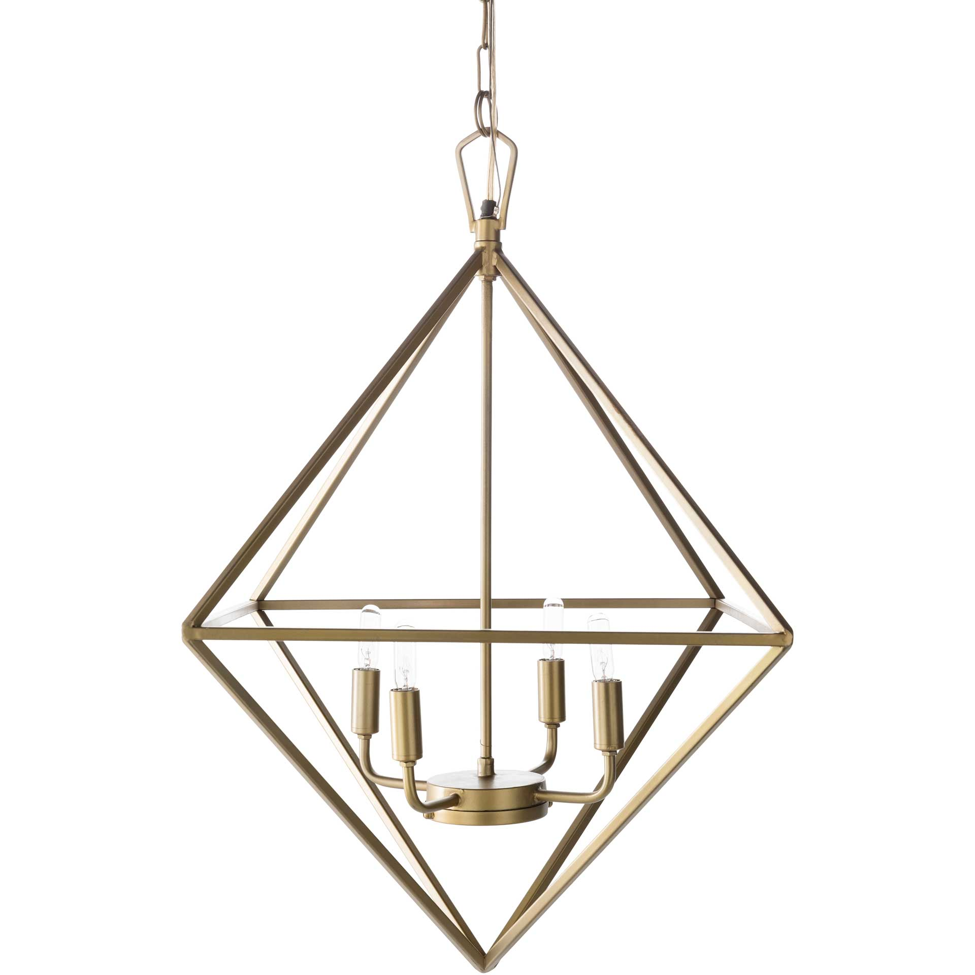 Bailee Prism Ceiling Lamp Brass