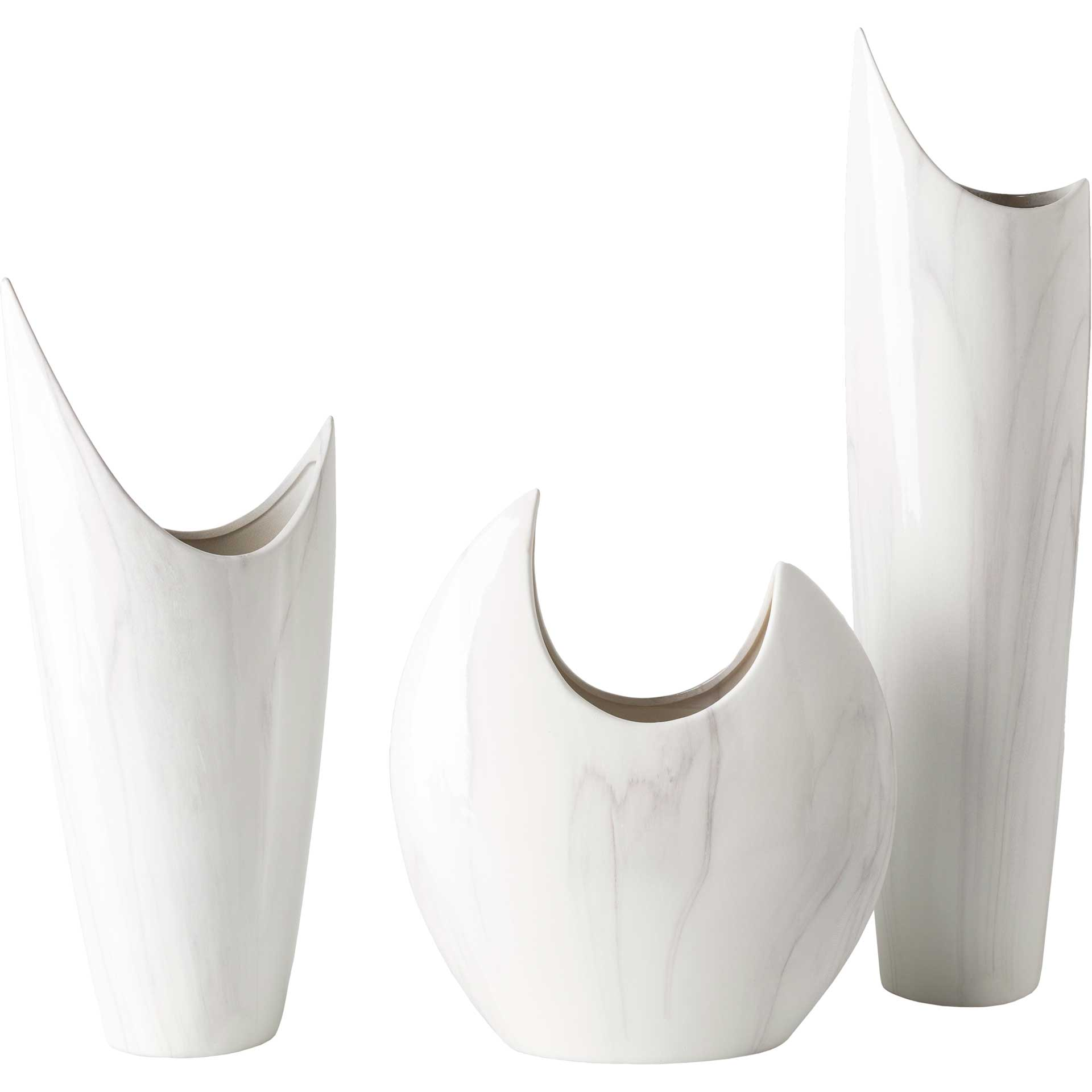 Hadleigh Vase White/Charcoal