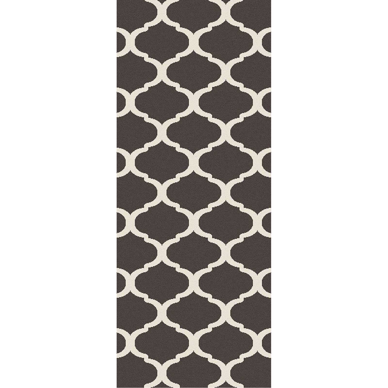 Horizon Lattice Ivory/Charcoal Runner Rug