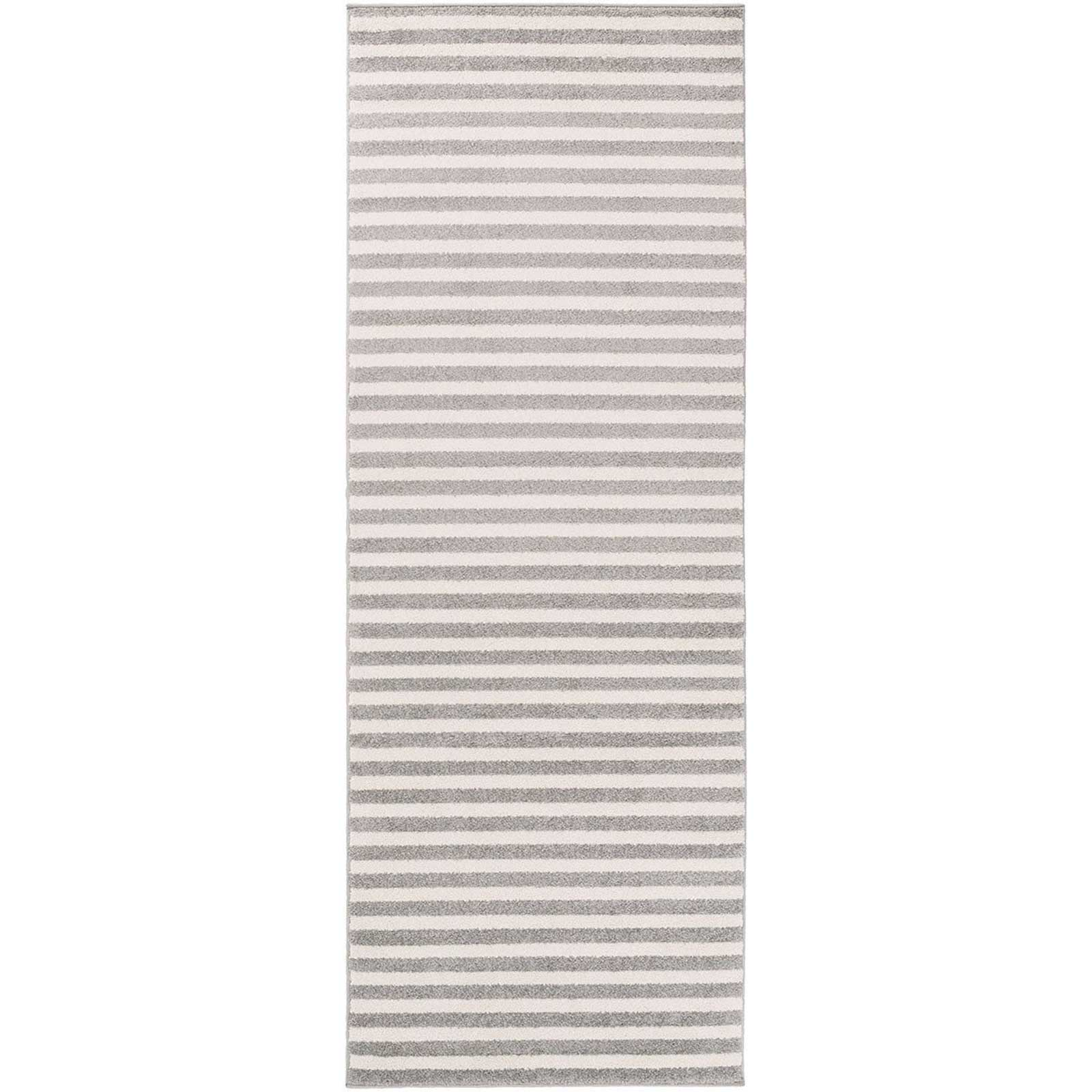 Horizon Lines Ivory/Charcoal Runner Rug