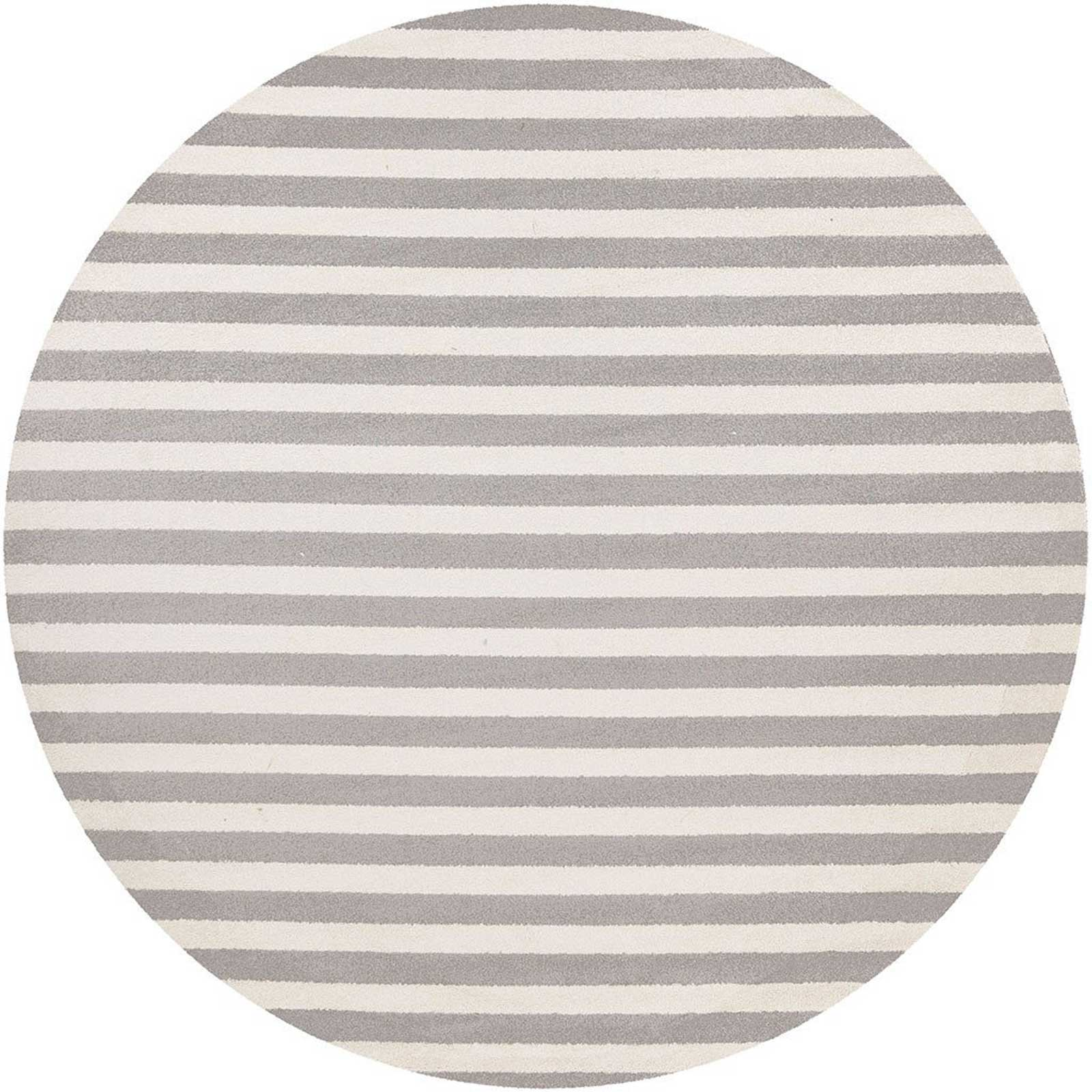Horizon Lines Ivory/Charcoal Round Rug