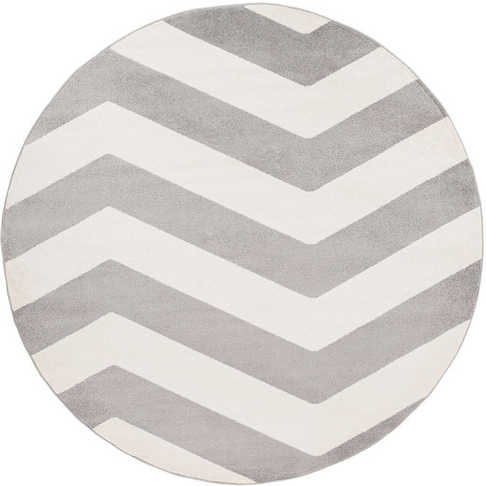Horizon Move Gray/Ivory Round Rug