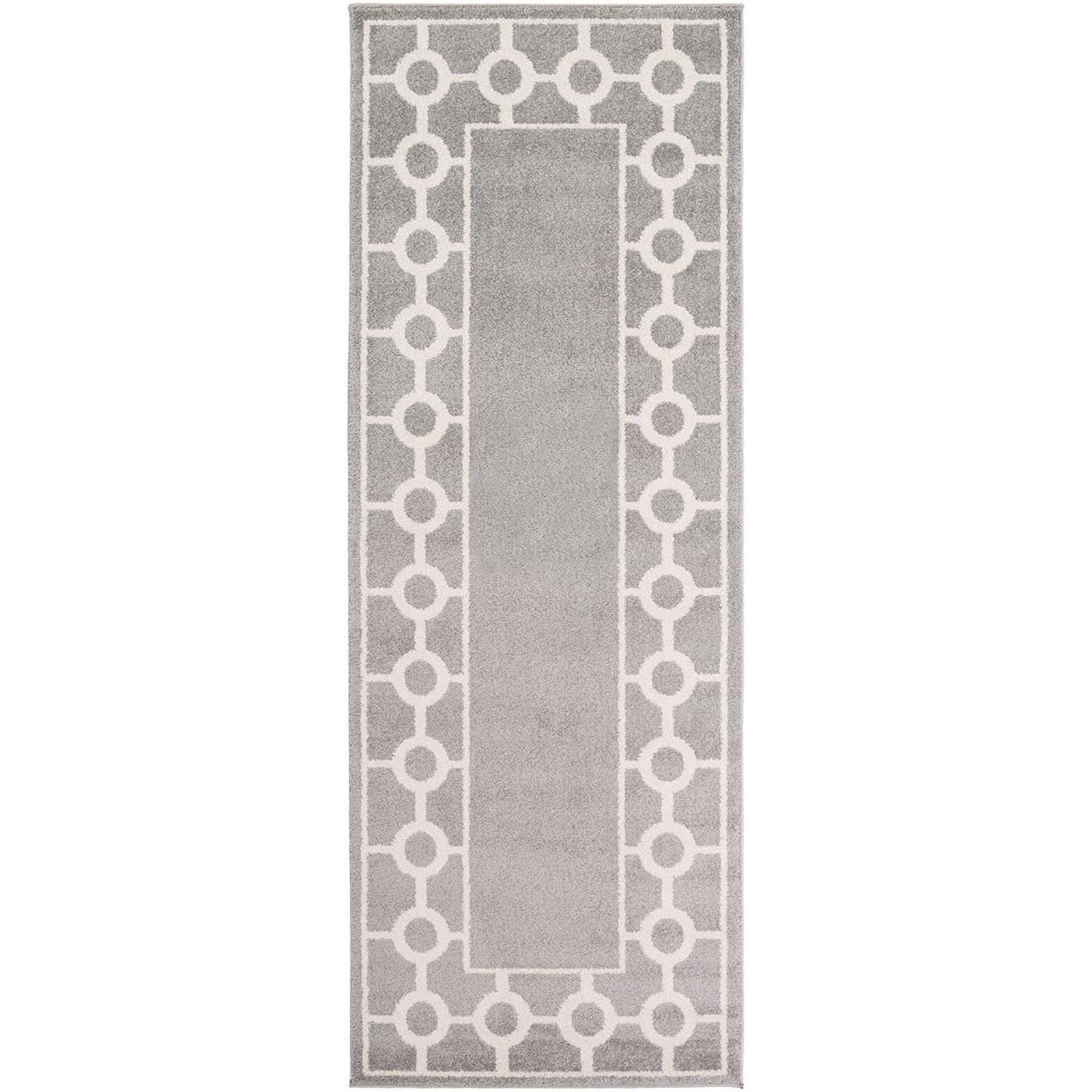 Horizon Border Gray/Ivory Runner Rug