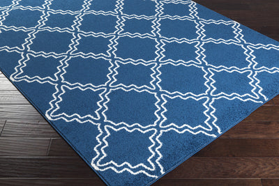 Horizon Diamond Cobalt/Ivory Area Rug