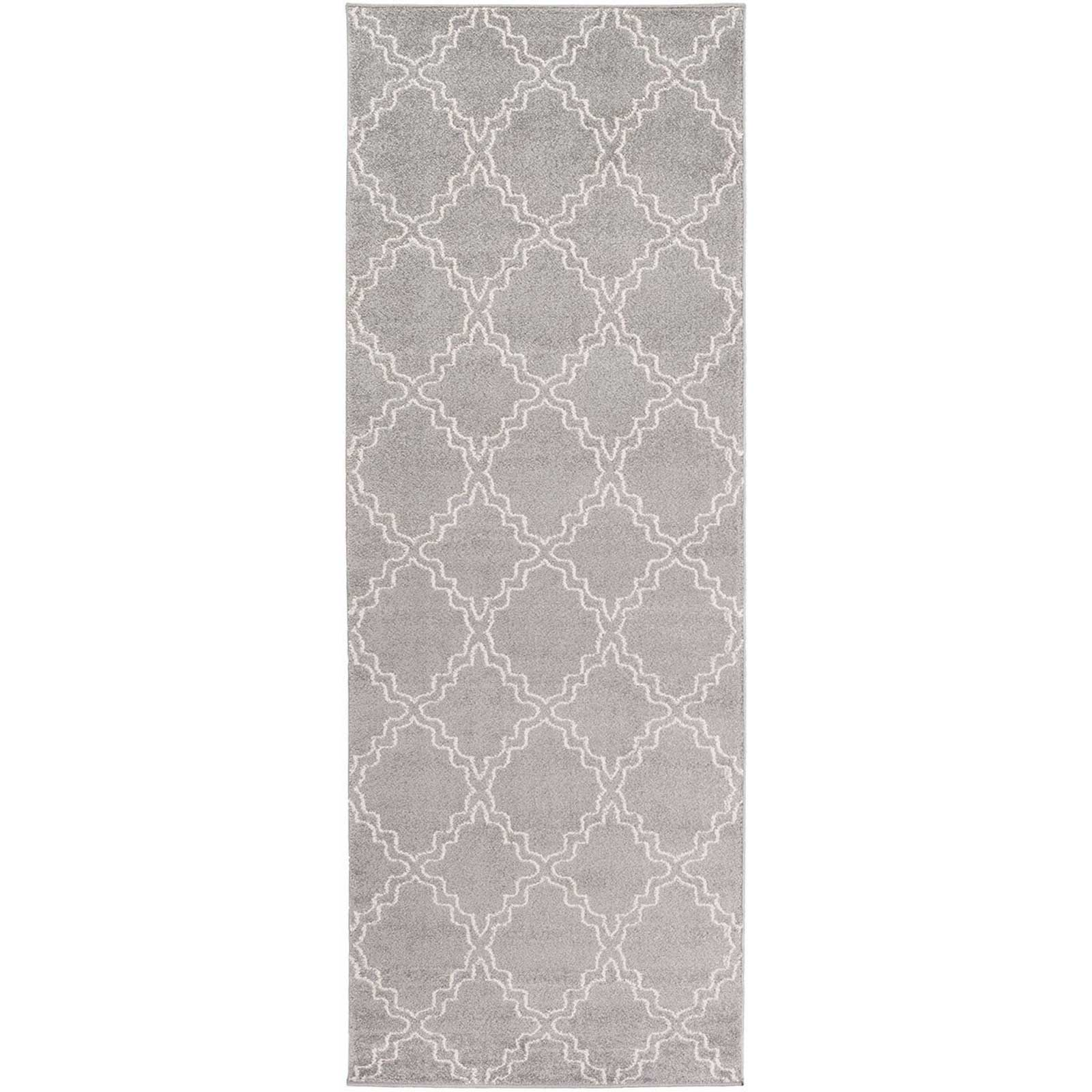 Horizon Diamond Gray/Ivory Runner Rug