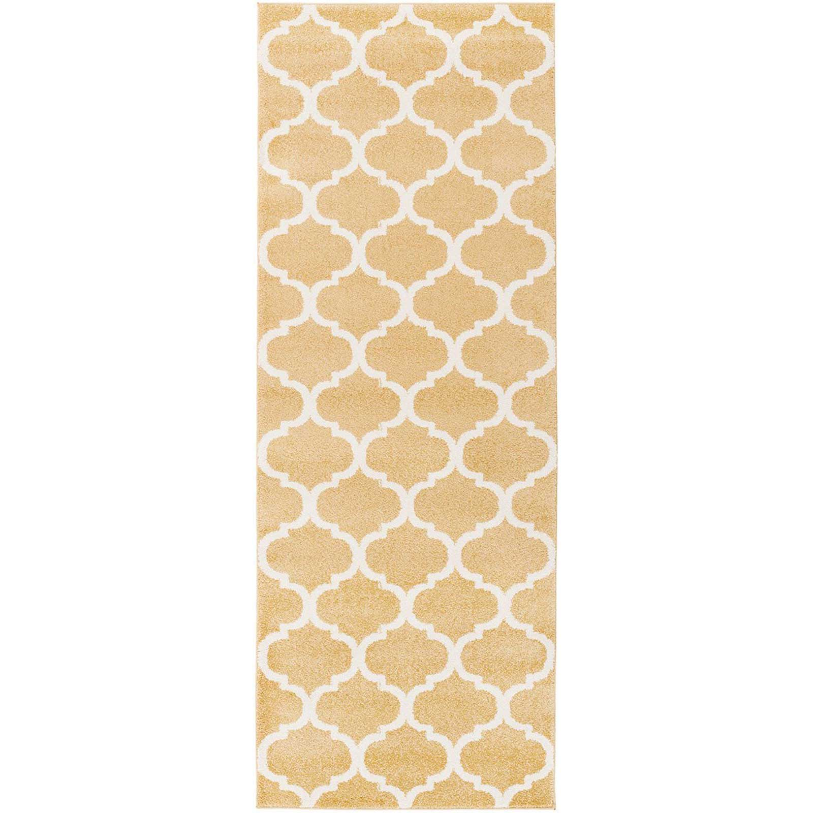 Horizon Lattice Gold/Ivory Runner Rug