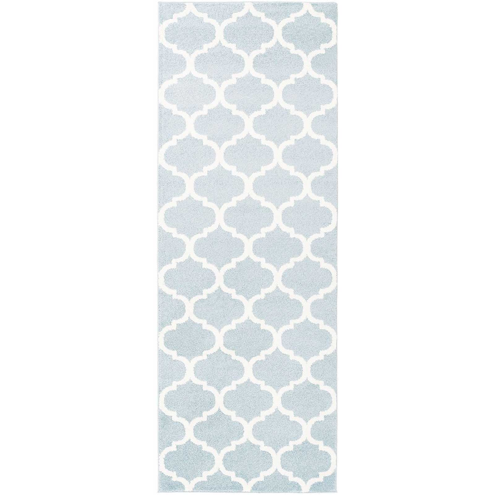 Horizon Lattice Slate/Ivory Runner Rug