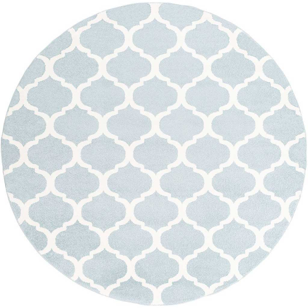 Horizon Lattice Slate/Ivory Round Rug