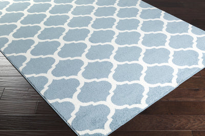 Horizon Lattice Slate/Ivory Area Rug