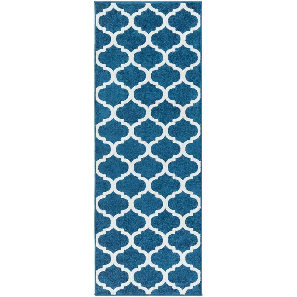 Horizon Lattice Cobalt/Ivory Runner Rug