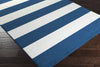 Horizon Striped Cobalt/Ivory Area Rug