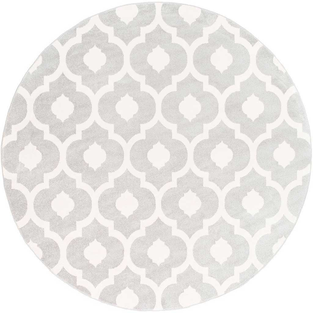 Horizon Ivory/Light Gray Round Rug