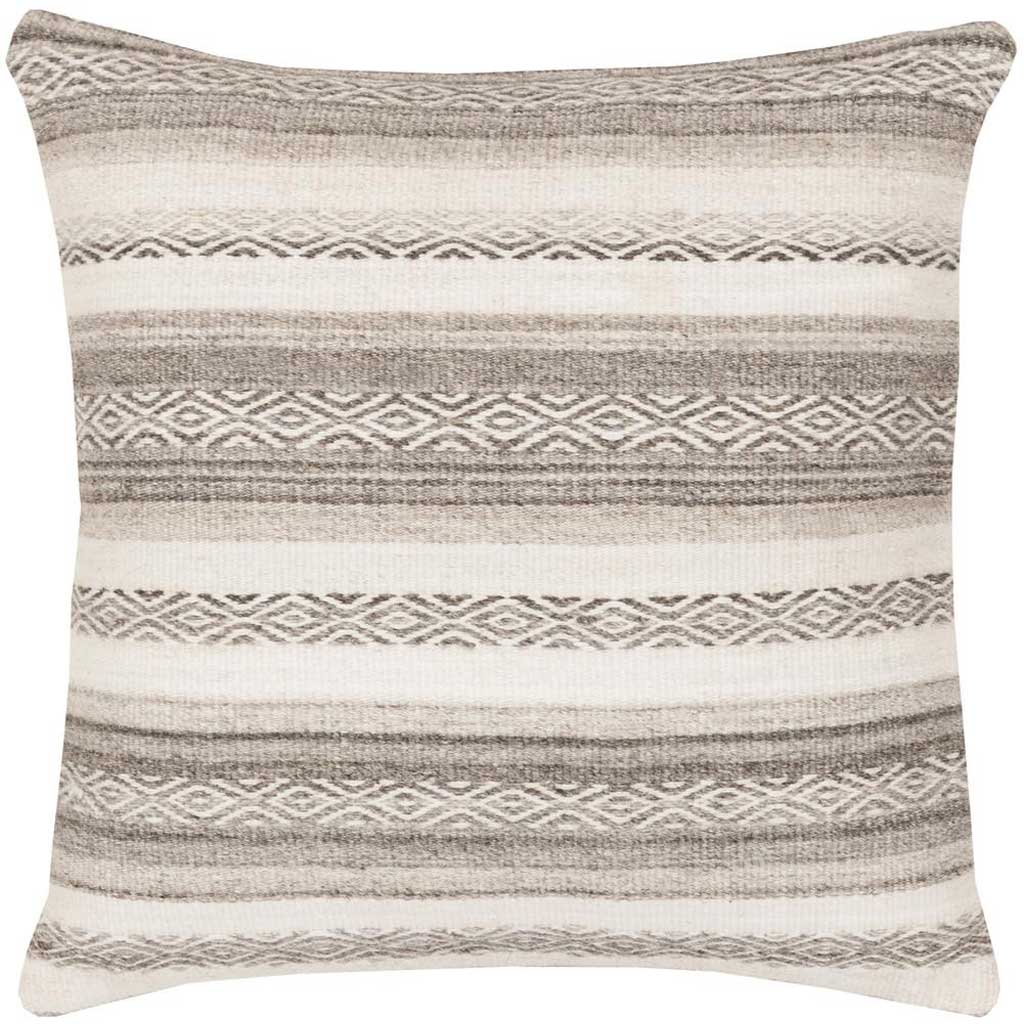 Tender Tribal Light Gray/Ivory Pillow