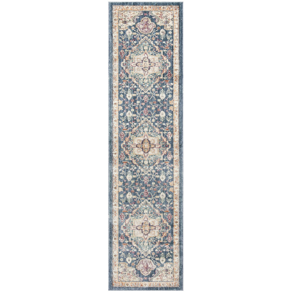 Illusion Blue/Purple Runner Rug