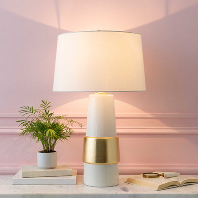 Ismael Table Lamp Ivory/White/Wheat