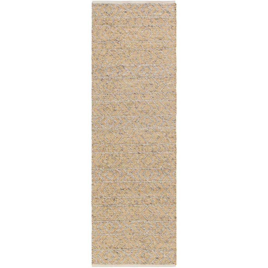 Ingrid Burnt Orange/Light Gray/Gray Runner Rug