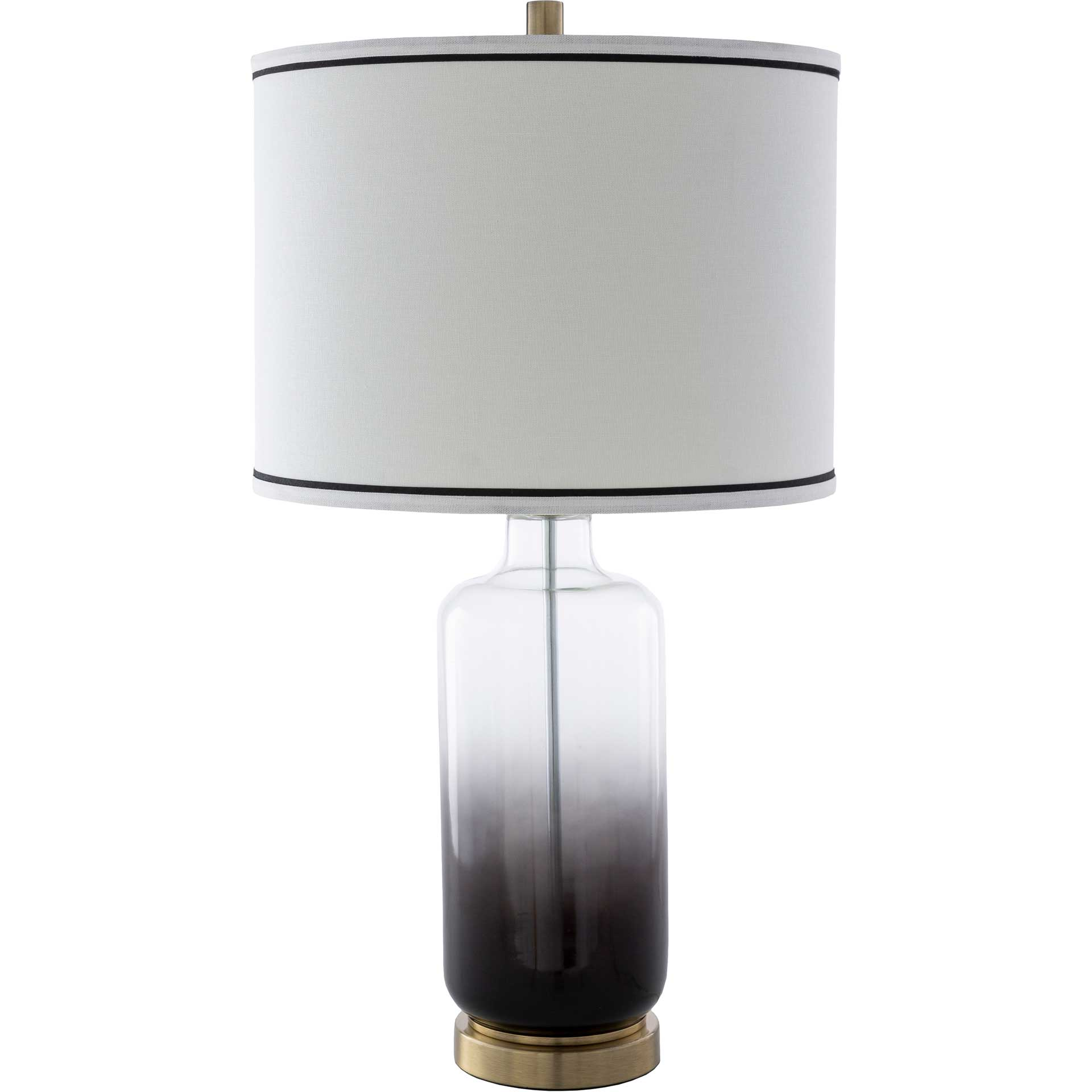 Ivaan Table Lamp White/Black/Clear