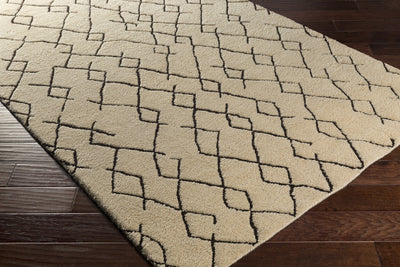 Javier White/Black Area Rug