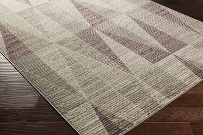 Jax Light Gray/Eggplant/Olive Area Rug