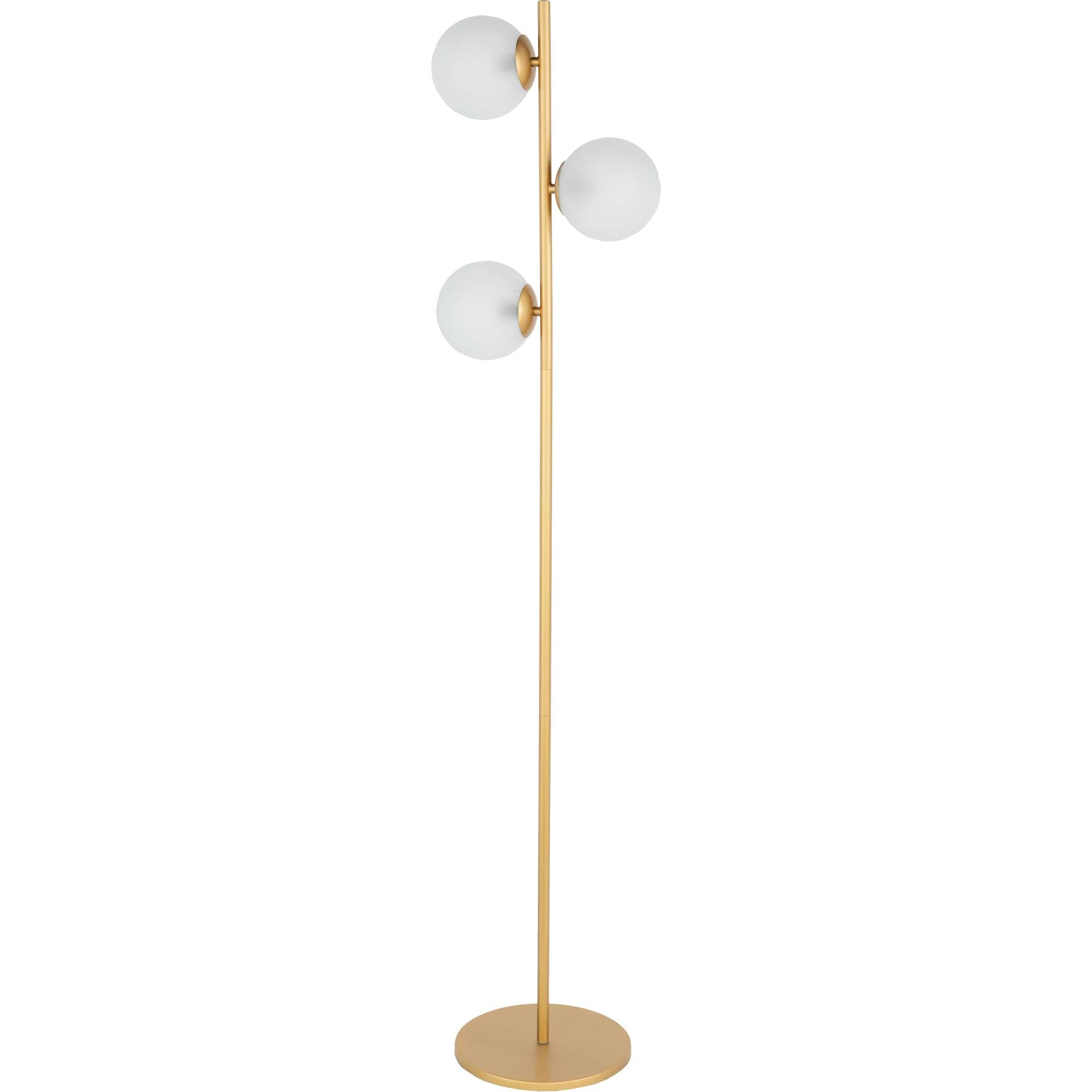 Jasper Floor Lamp Gold/White