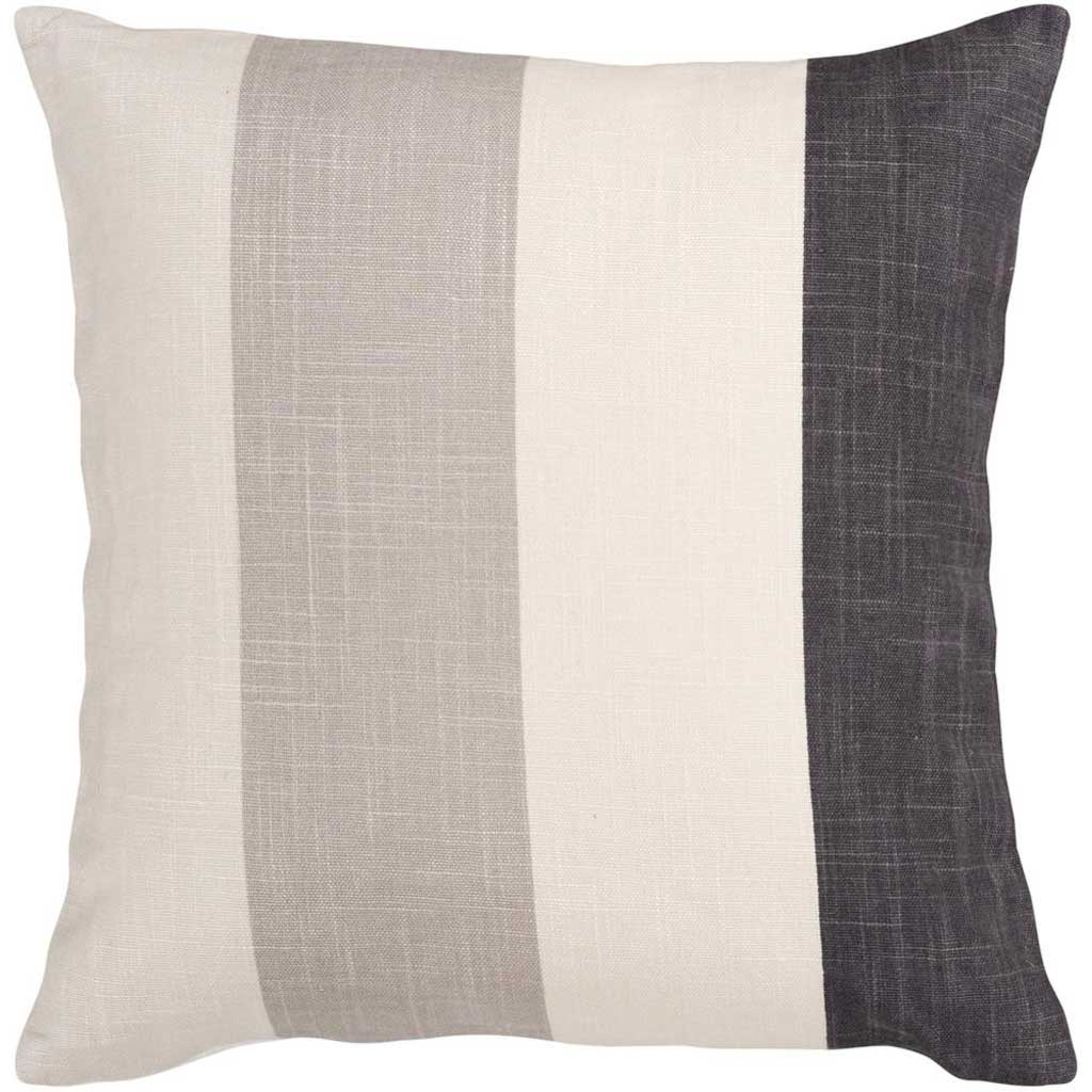 Striking Stripe Beige/Charcoal Pillow