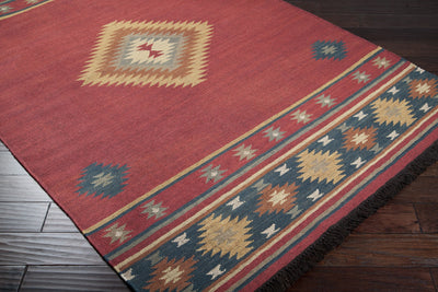 Jewel Tone Burgundy/Navy Area Rug