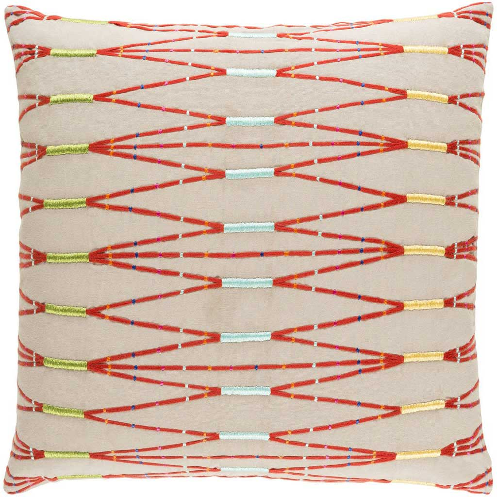 Kikuyu Taupe/Orange/Yellow Pillow