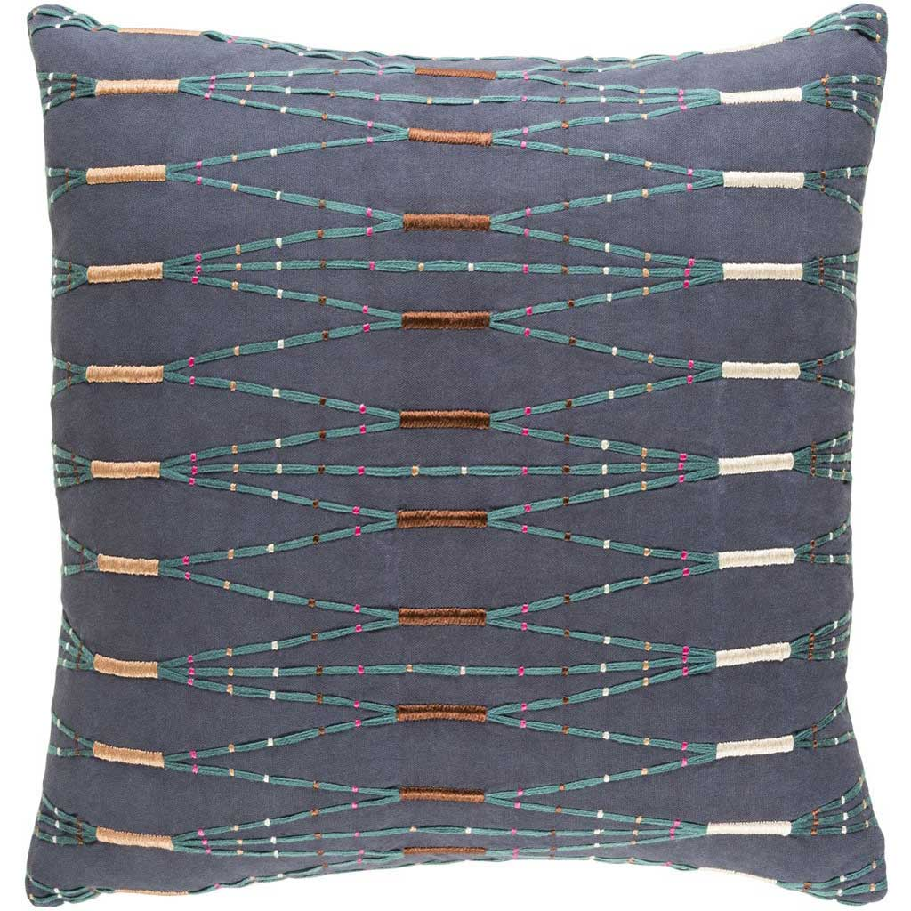 Kikuyu Navy/Teal/Dark Brown Pillow