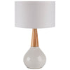 Kent Drum White Table Lamp