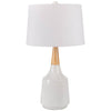 Kent Bell White Table Lamp