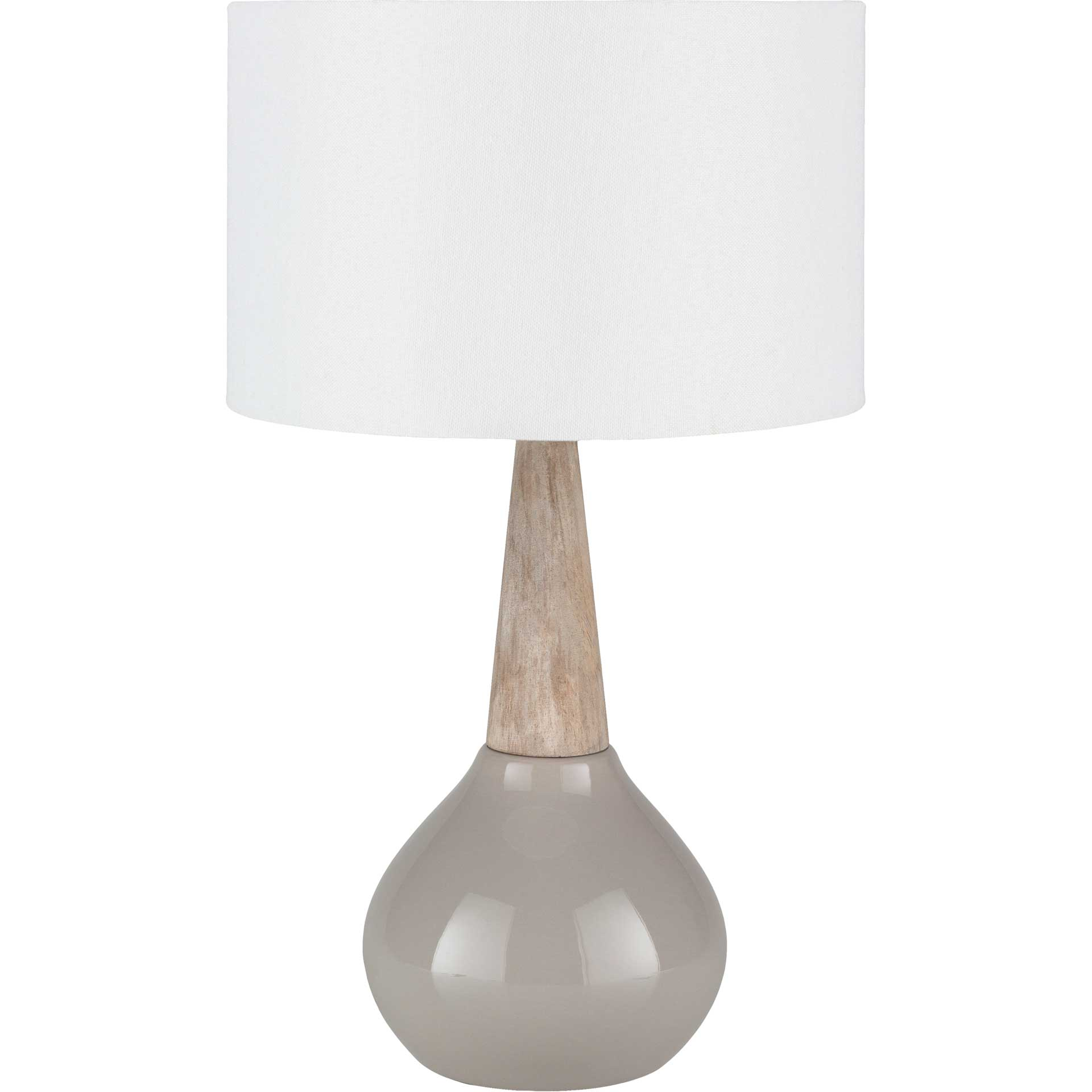 Keaton Table Lamp Medium Gray/White