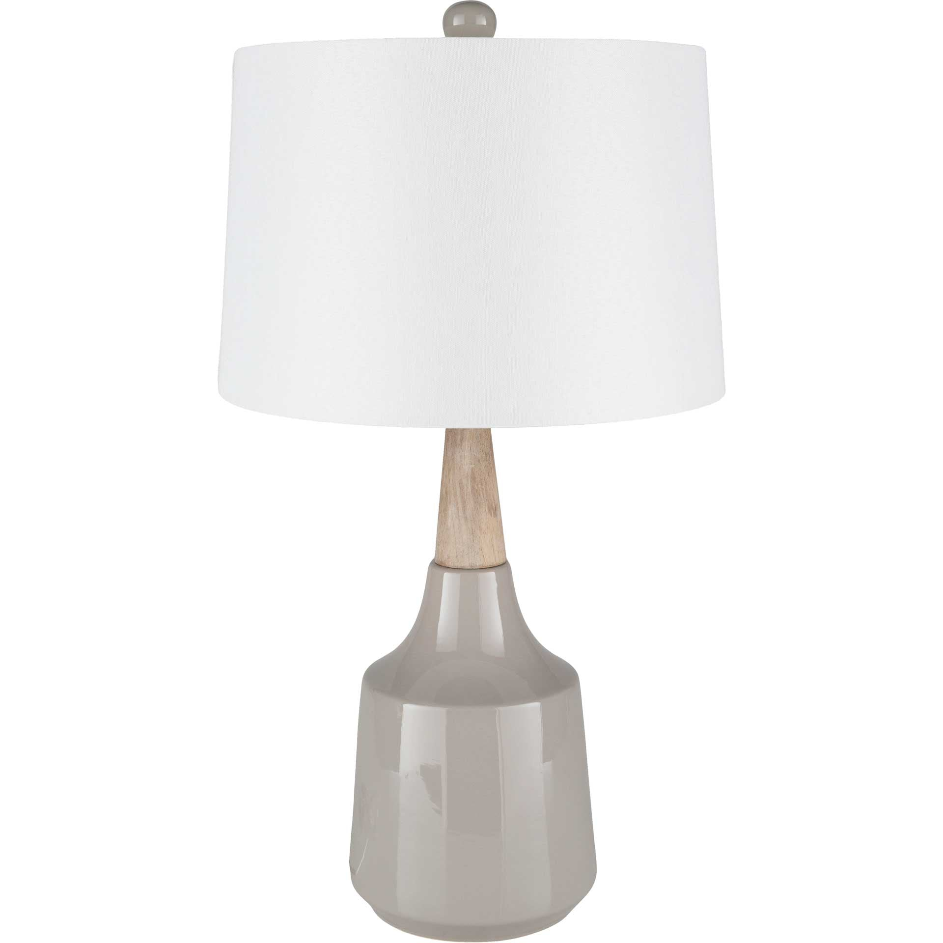 Keaton Table Lamp White/Medium Gray