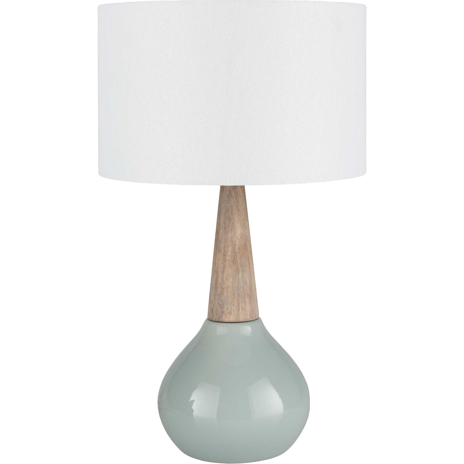 Keaton Table Lamp Pale Blue/White