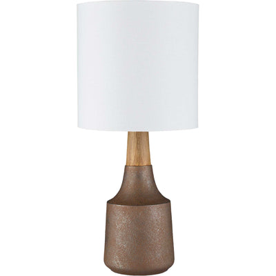 Keaton Table Lamp Camel/White/Copper