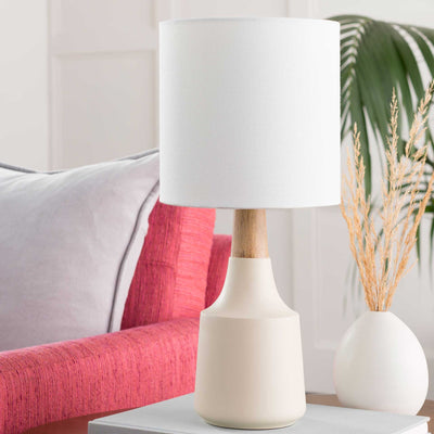Keaton Table Lamp Ivory/White/Tan