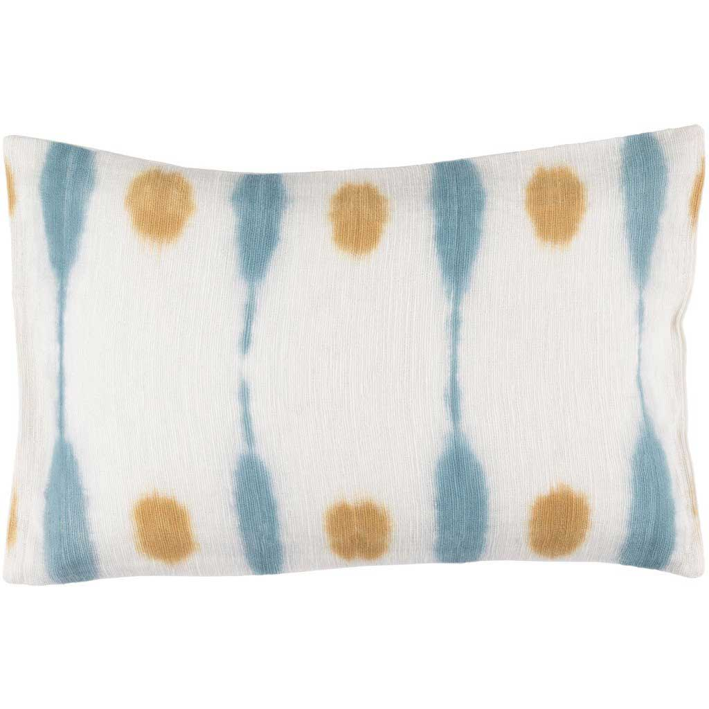 Kumo Cream/Saffron/Sky Blue Lumbar Pillow