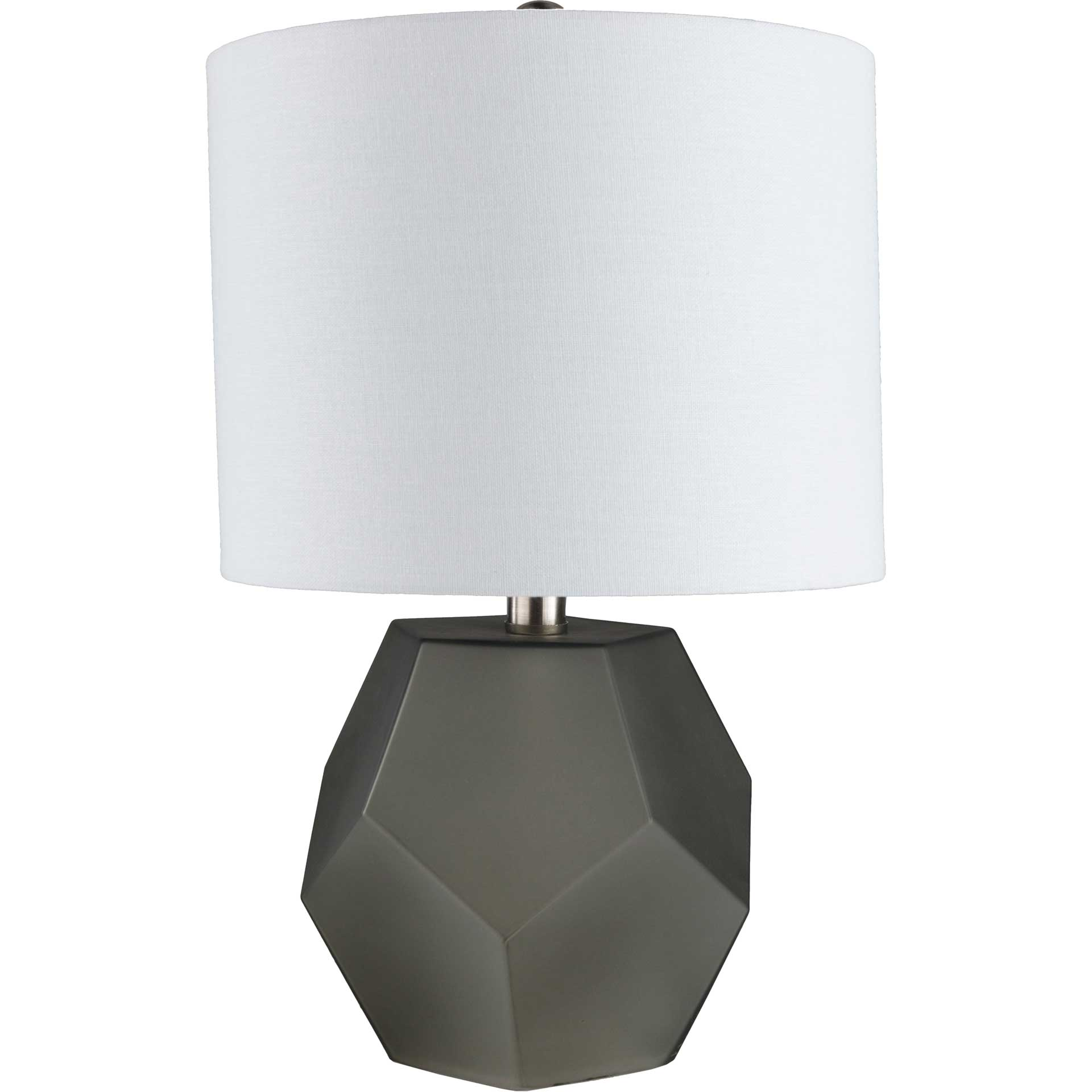 Keanu Table Lamp Charcoal/White
