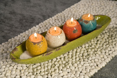 McCracken Tealight Candle Holders in Tray (Set of 5)